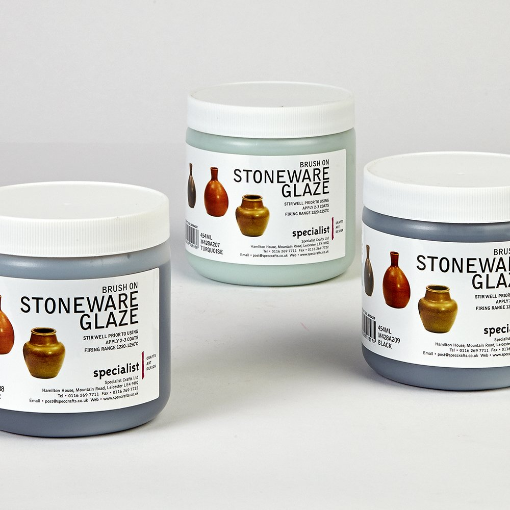 Brush On Stoneware Glaze - Gold Specialist Crafts