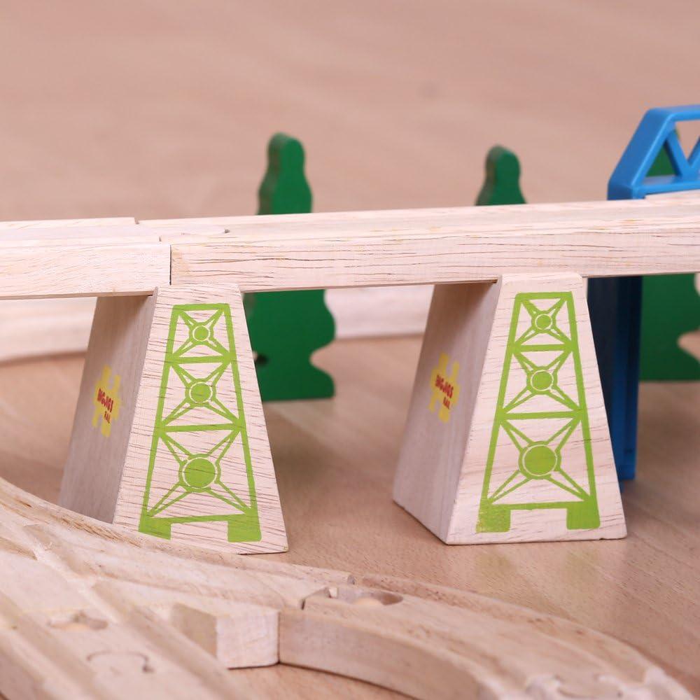 Bigjigs Rail Cubes en Bois de sur/él/évation Lot de 6