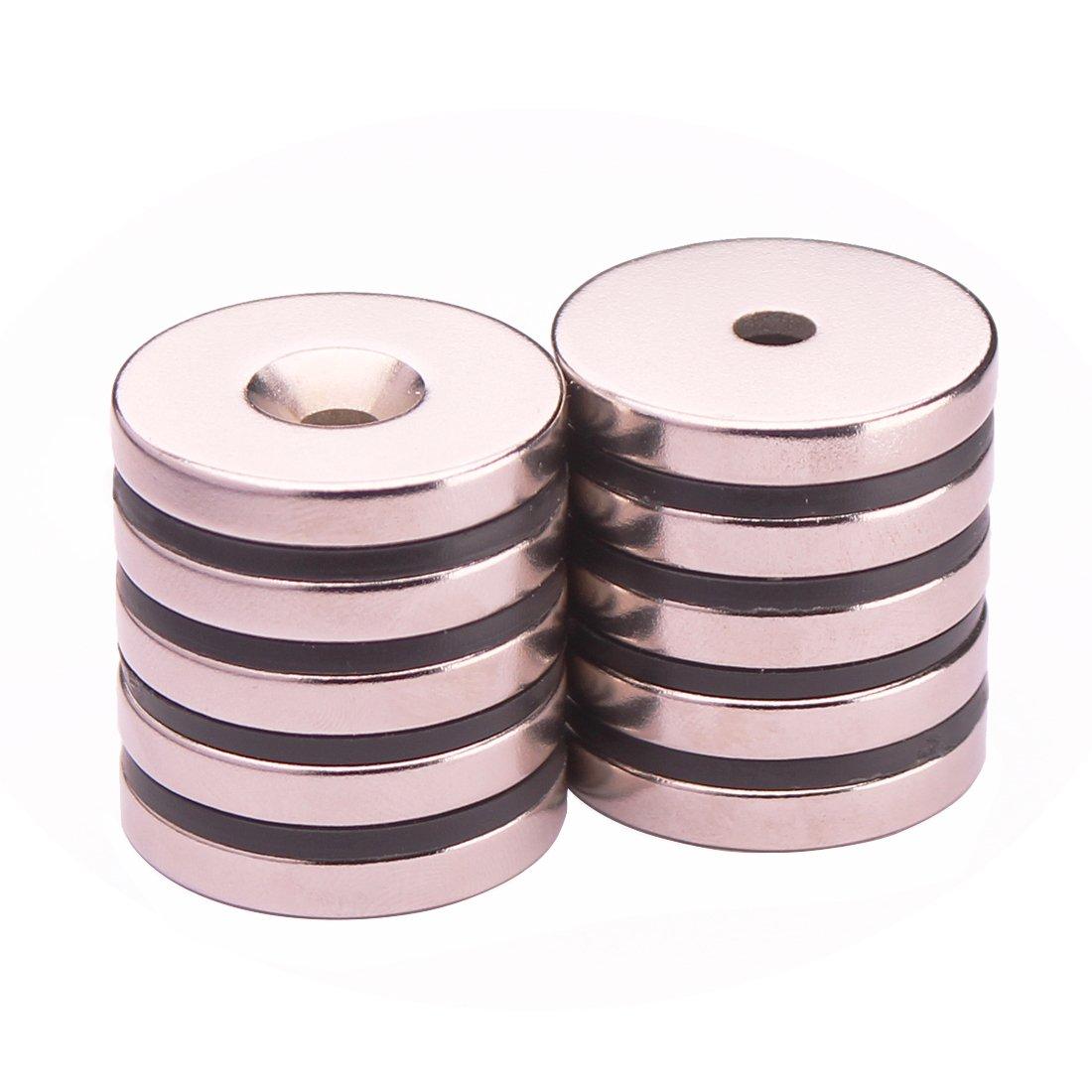 Amazon.com: kygne 10 Pack Countersunk agujero de discos de ...