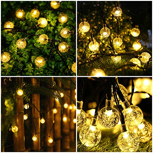 bedee Solar Fairy Lights Outdoor, 50 LED 7M/23Ft Solar Garden Lights Waterproof 8 Modes Indoor/Outdoor Solar String Lights for Garden Patio Yard Home Party Wedding Festival Decoration (Warm White)