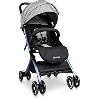 besrey Baby Stroller Lightweight Easy Fold Compact Travel Stroller for Airplane Kids pram with Reclining Seat for Baby…