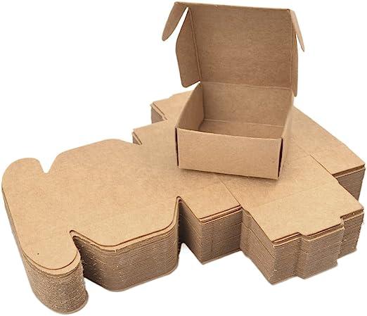 Pinji 50PCS Cajas de Cartón Automontables para Empaquetar o Enviar ...