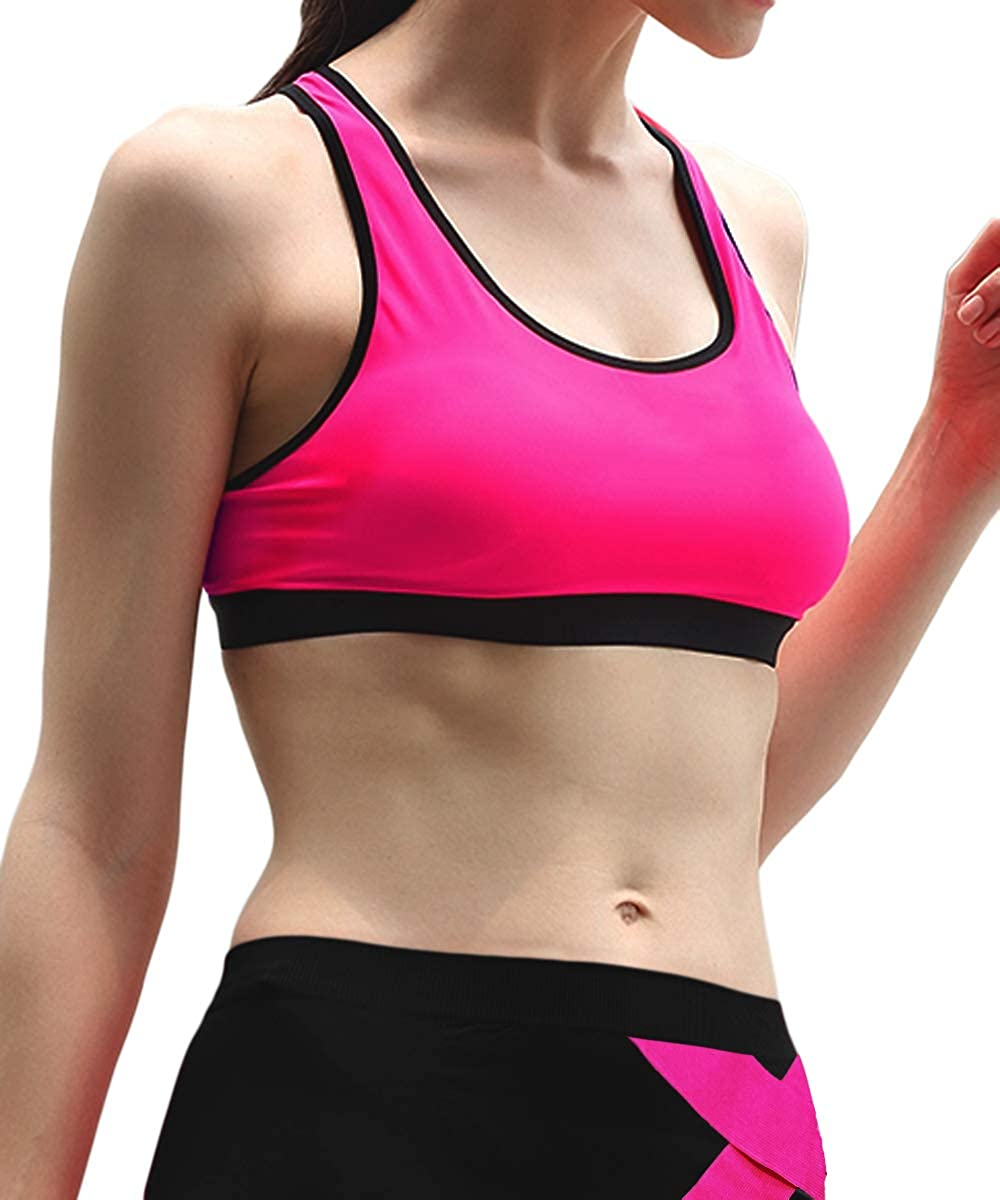 Pant + Bras MANGOPOP Womens 2 Pieces Outfits Yoga Suits with Workout Leggings and Racer Back Sports Bras Tracksuits
