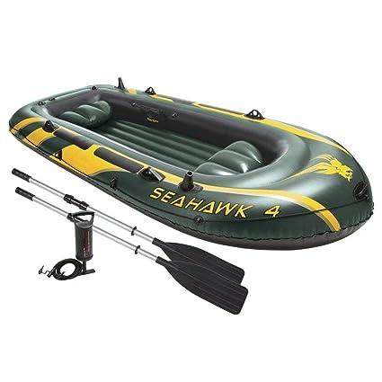 YTBLF Barco de Pesca Inflable para 4 Personas, Bote de ...