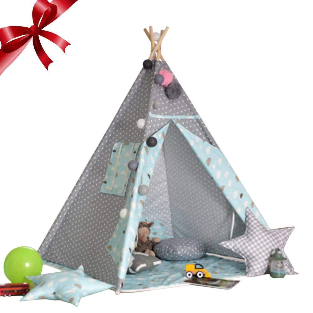 Depruies Indoor Kinderzelt Spielhaus Packen Baby Kletterzelt Indoor Spielzimmer Kids Tipi Kinder Spielzelt, N, D