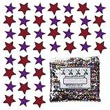 Confetti Star 1/4'' Purple, Red Combo - Half Pound Bag (8 oz) FREE SHIPPING --- (8562/8517)