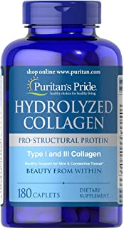 Puritans Pride Hydrolyzed Collagen 1000 Mg, 180 Count