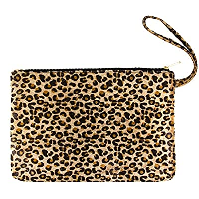 Me Plus Women's Clutch Pouch Wristlet Purse Bag Zipper Closure (2 Patterns)