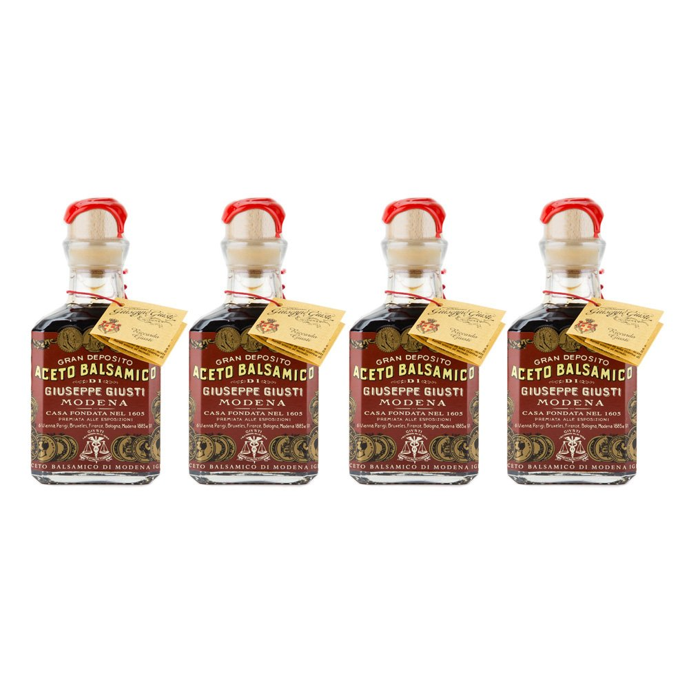Giuseppe Giusti - Gran Deposito Aceto Balsamico Di Giuseppe Giusti Moderna - Italian Balsamic Wine Vinegar 8.45 fl.oz. (250ml) - Pack of 4 by Giuseppe Giusti