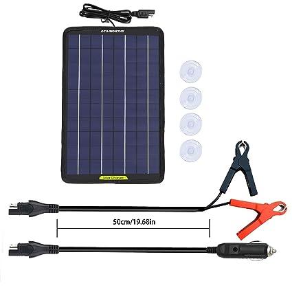Amazon.com: ECO-WORTHY - Panel solar portátil de 12 voltios ...