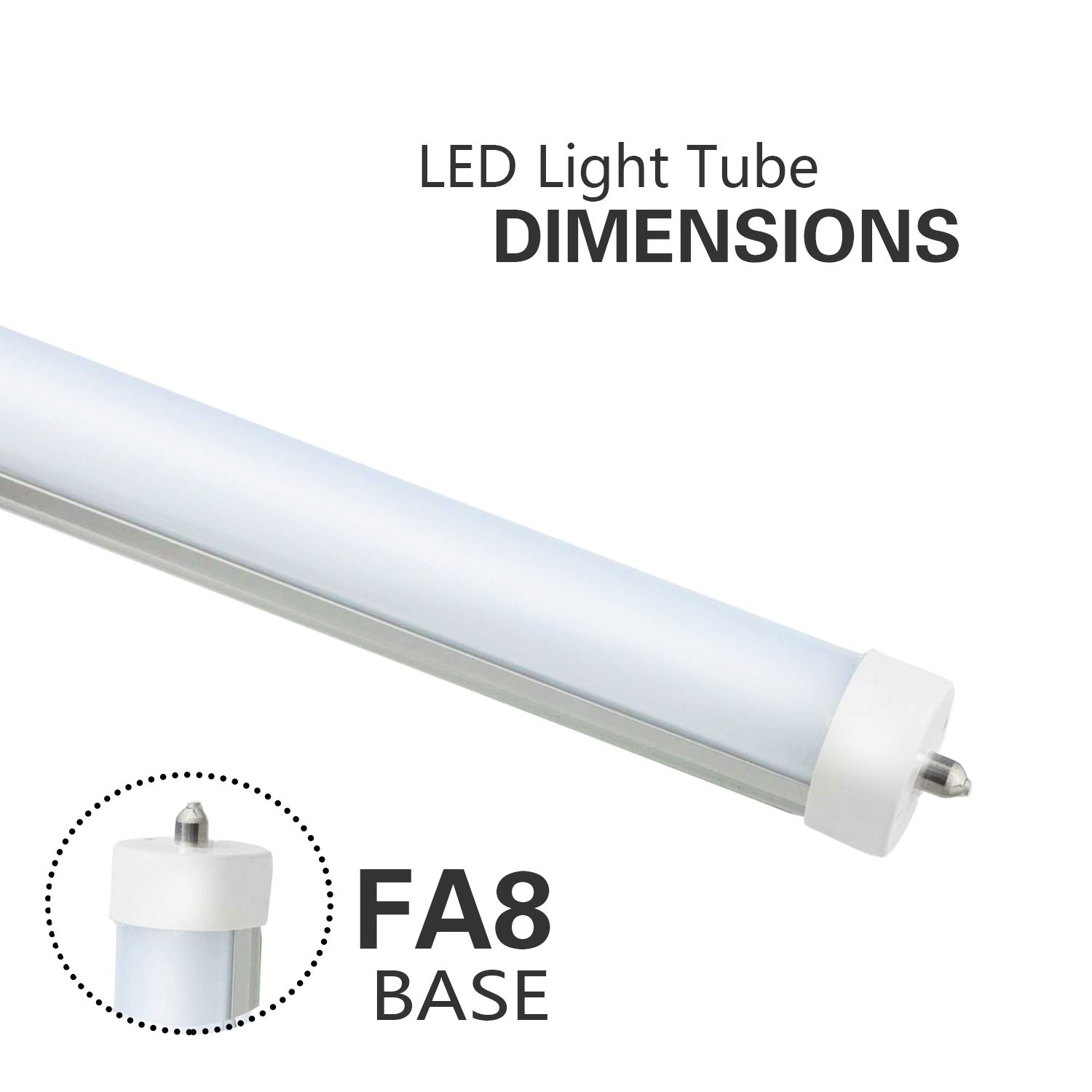8ft Led Bulbs For T12 Fluorescent Fixtures F96t12 Tube Light Diagram Although Lights Replacement 120v And 277v Input 5500k Daylight White 40watt 4800lm Super Bright 4pcs