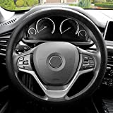 hyundai elantra steering wheel - FH GROUP FH3001 Snake Pattern Silicone Steering Wheel Cover, Black Color-Fit Most Car, Truck, Suv, or Van