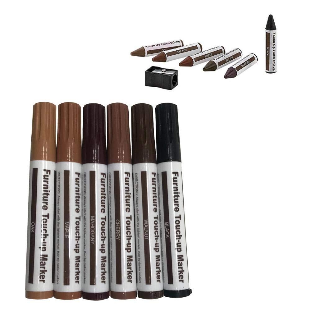 Ritapreaty Penna ripara Graffi Riparazione Legno marcatori Grain Color Cartonne Bastoncini di Cera per mobili Pavimento