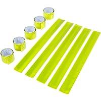 Goldge 10st Schnapparmband Reflektorbänder Klatscharmband Reflektierend Sicherheitsband, Mitgebsel und Spielzeug Für Kinder.