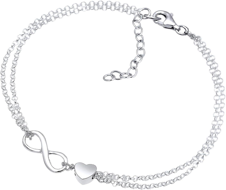 Elli Pulseras para dama simbolo infinito en plata de ley 925
