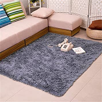 Bath Rugs Fluffy Rugs Anti Skid Shaggy Area Rug Dining Room Home Bedroom  Carpet Floor
