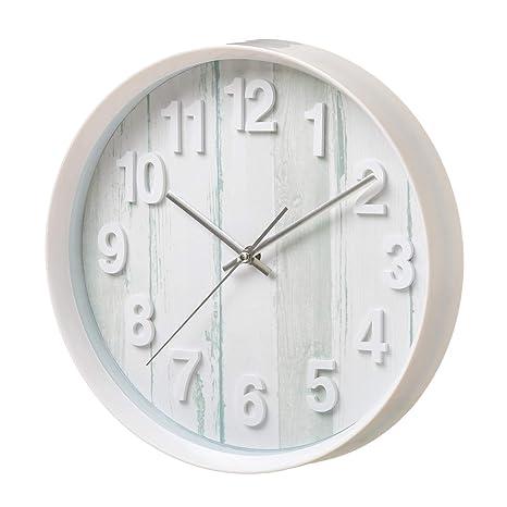 Reloj de Pared rústico Blanco de plástico para Cocina Vitta - LOLAhome