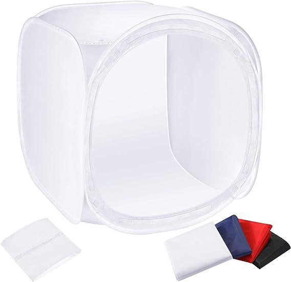Black, White, Orange Camera Parts Accessories Hyx 80cm Folding Portable 80W 8500LM White Light Photo Lighting Studio Shooting Tent Box Kit with 3 Colors Backdrops