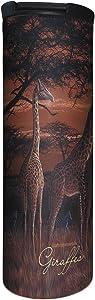 Tree-Free Greetings Barista Tumbler Vacuum Insulated, Stainless Steel Travel Coffee Mug/Cup, 17 Ounce, Giraffe