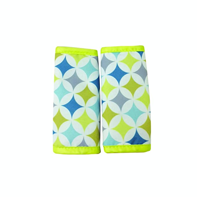 Nuby Car Seat Reversible Strap Covers 2 Pack Green