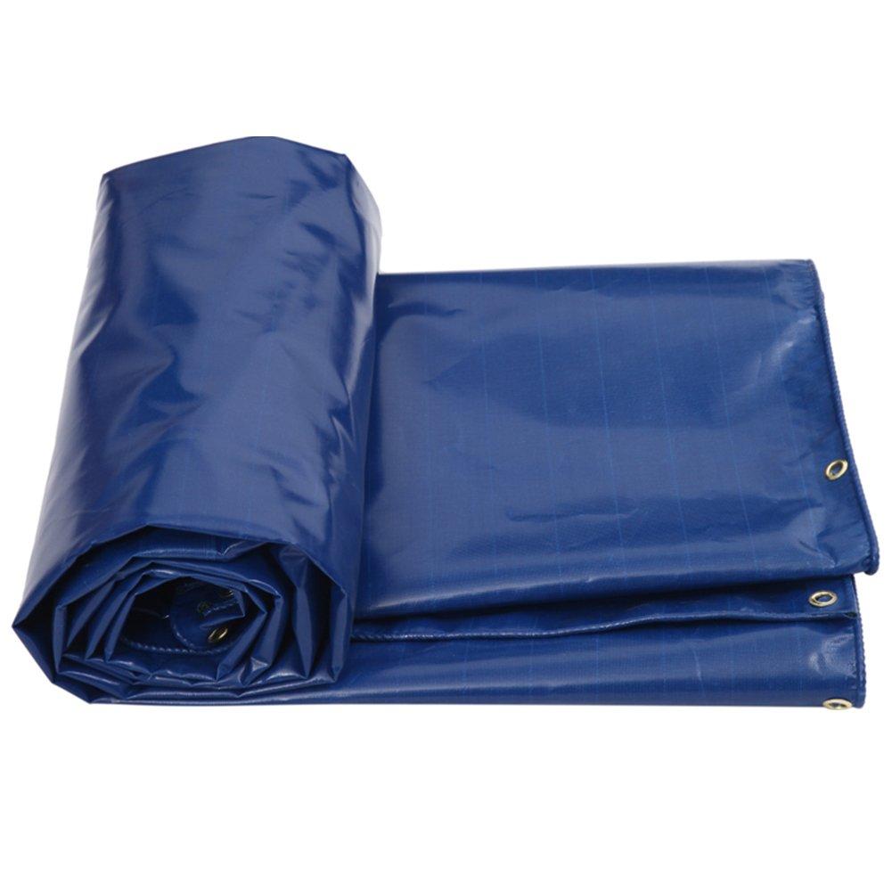 LIANGJUN ターポリン オーニング ポリ塩化ビニル 両面 防水 日焼け止め 肥厚 キャンバス 屋外 車のカバー 550g/m²、 3色、 6サイズ ( 色 : 青 , サイズ さいず : 4X4m ) B07CMB56WR 4X4m|青
