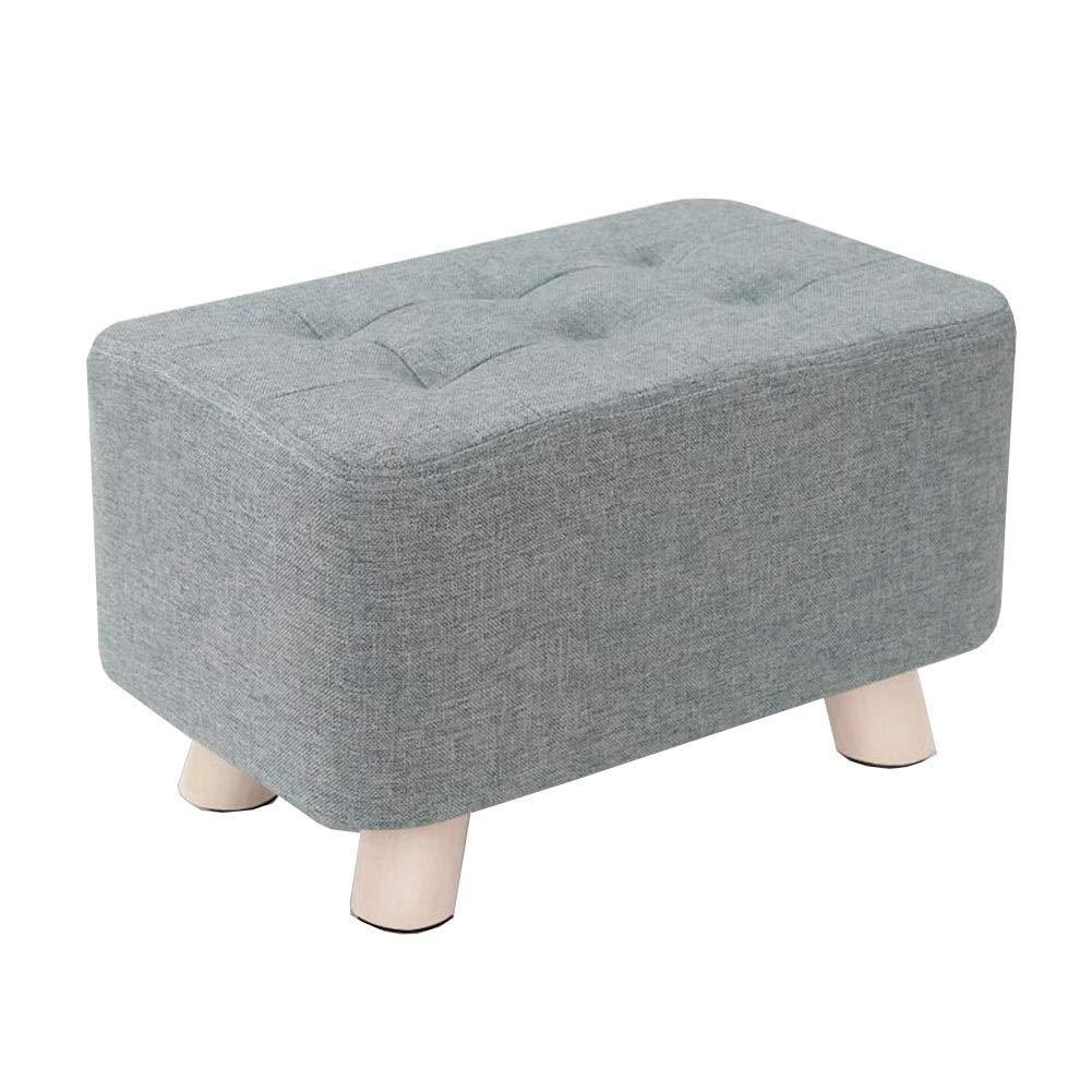 GPWDSN Fußbank Rohware Ottoman Schuh Bench Modern Home Massivholz Sofa Hocker Removable Wash Anti-Rutsch