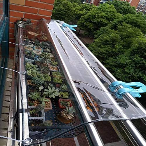 Lona Transparente de Alta Resistencia para toldos, Empalme, toldo para toldos, Lona Impermeable a Prueba de Lluvia de PVC con Ojales para Patio de jardín