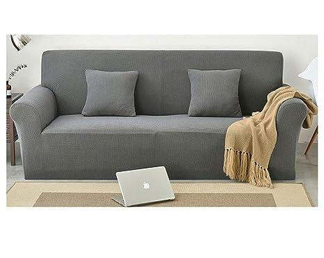 ZIXING Fashion Elegante Jacquard Funda de sofá Color sólido ...