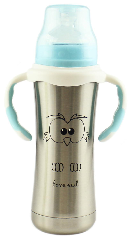 大きな割引 MoomooBaby Stainless Steel Baby Baby Bottle & with by Fast Flow Silicone Nipple & Matching Handle 8-Ounce by MoomooBaby B01DRRQVK0, イイダシ:c5f2b216 --- a0267596.xsph.ru