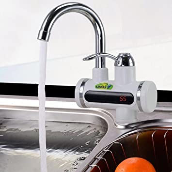 Ad Fresh LED Digital Display Instant Heating Electric Water Heater Faucet Tap