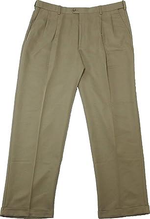 359ad940 Savane Mens Comfort Waist Microfiber Performance Pleated Dress Pants ...