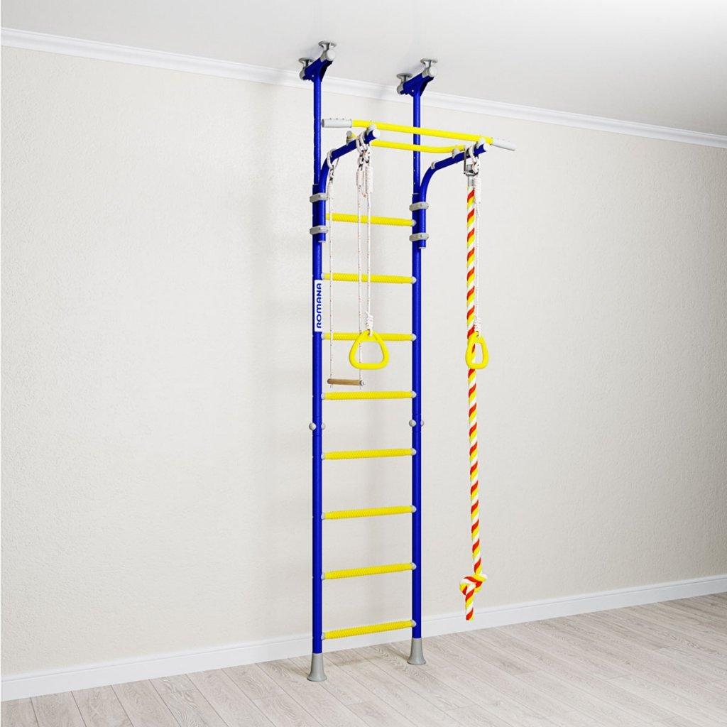 Metall Wandstange mit Gymnastikreifen Comet-5/Innen Home Gym f/ür Kinder