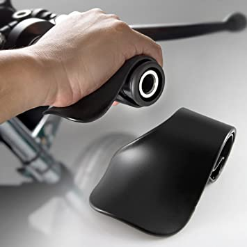 Alpha Rider Universal 22MM Black Throttle Mounted Motorcycle Cruise Assist Oil Control Thumb Rest Riding Aid