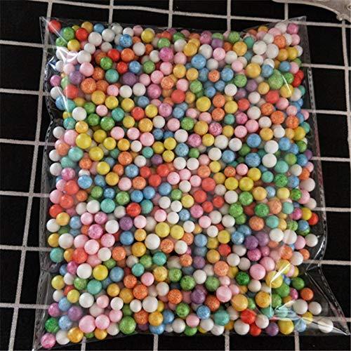 yrofoam Plastic Foam Mini Beads Ball DIY Assorted Colors Decorate 2000pcs ()
