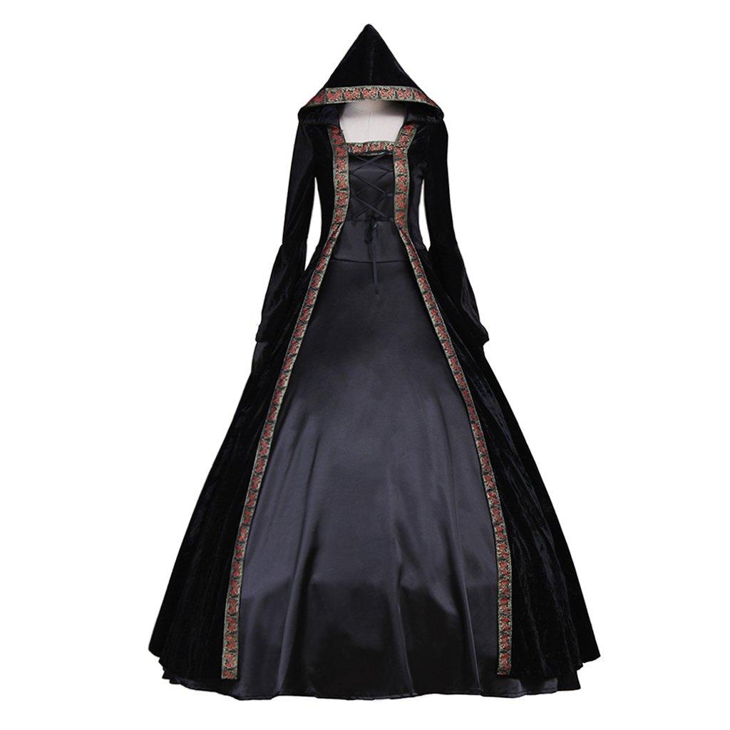 CosplayDiy Women's Deluxe Hooded Collar Victorian Dress Costume XXL