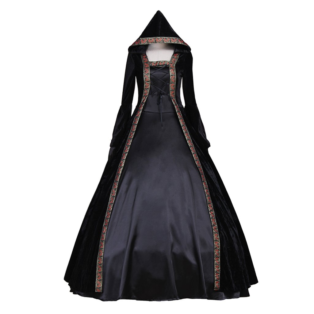 CosplayDiy Women's Deluxe Hooded Collar Victorian Dress Costume XXL by CosplayDiy