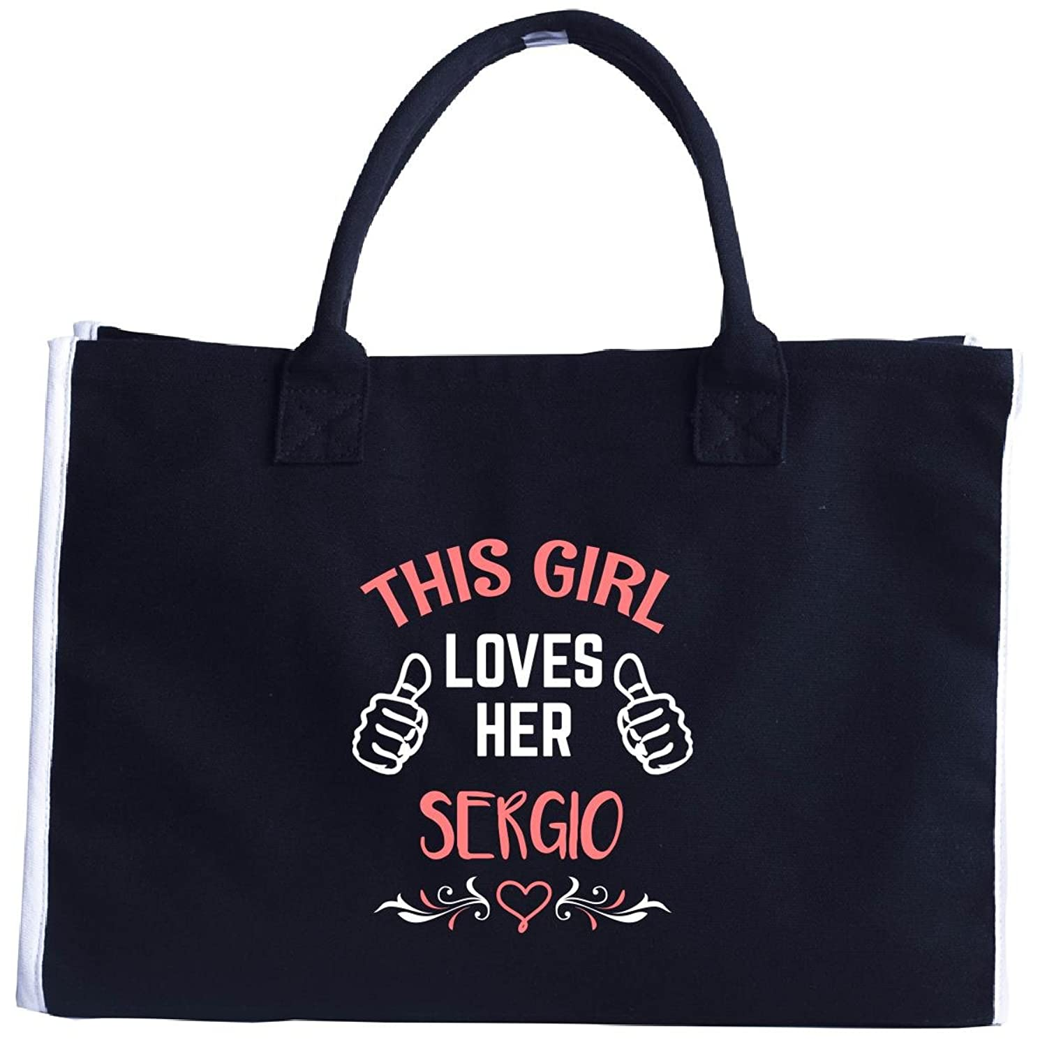 This Girl Loves Her Sergio Valentines Day Gift - Tote Bag