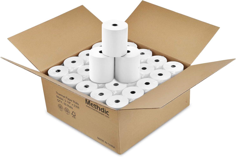 Amazon.com: Rollo de papel térmico sin BPA, 3 1/8 pulgadas x ...