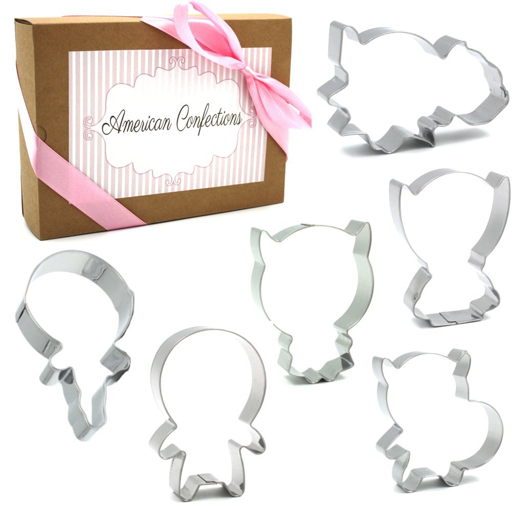 American Confections Marvel Super Hero Cookie Cutter with Stencils Batman, Hulk, Captain America - Set of 6