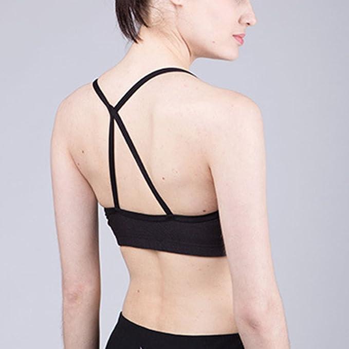 d40c9fa14c Beepeak Women s Fashion Padded Support Bralette Gym Crop Tops Yoga Sports  Bra  Amazon.co.uk  Clothing