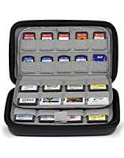 Sisma 72 in 1 Game Cartridges Holder Organiser Hard Carrying Case for Nintendo Switch 3DS 2DS Sony Ps Vita Games SD microSD Memory Cards, Black SVG180901GC-B