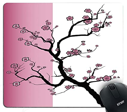 Amazoncom Gaming Mouse Pads Sakura Tree Japanese Cherry Blossom