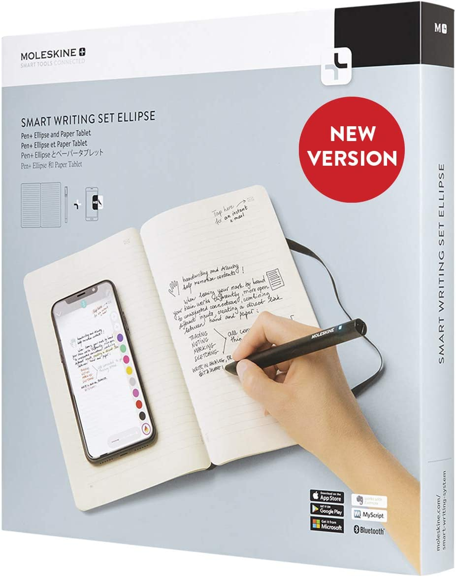 Moleskine Smart Writing Set Ellipse Notebook And Pen Ellipse Smartpen Notebook With Black Hard Cover Suitable To Use With Pen Moleskine Black Color Ruled Sheets Amazon Co Uk Office Products