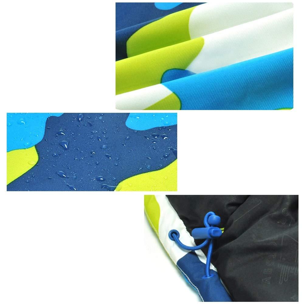 Colore : C7, Dimensione : 130 Abbigliamento sportivo Bambini e ragazzi Sunbobo Giacca da Sci da Snowsuit Tuta da Neve per Bambini Tuta da Sci Impermeabile con Tuta Mimetica Impermeabile per Bambini
