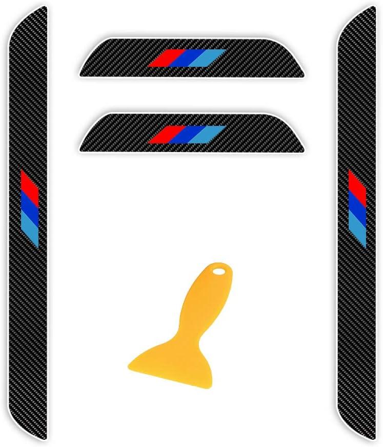 ALLYARD for BMW 7series G11 G12 740i 750i 2016-2017 car Door Edge Threshold Protector Access Control Cover Carbon Fiber Sticker Protector 4PCS