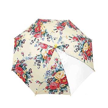 Niño de mango largo paraguas Chica Paraguas automático princesa Peony Paraguas Anti-UV Sunny Umbrella