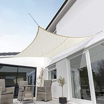 Terrazzo o Balcone Carbone Kookaburra Tenda a Vela Quadrata 3,6m per Feste Resistente allAcqua Protezione Anti Raggi 96.5/% UV per Ombreggiare Il Giardino