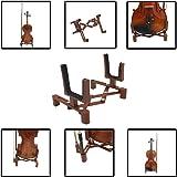 Baisidai Durable Musical Instrument Stand Violin Stand Folding Stand Violin Hanger for Ukulele, Violin,Mandolin, Banjo, Pipa (1 pack)