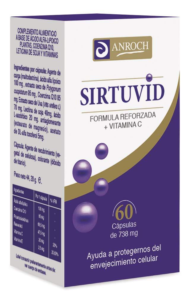 SIRTUVID (ANTIOXIDANTE CELULAR) 550 mg 60 Caps: Amazon.es: Salud y cuidado personal