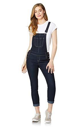 9c845f91c9e3 Amazon.com  WallFlower Women s Juniors Denim Overalls  Clothing